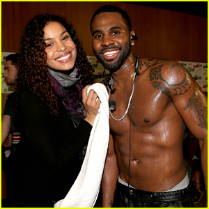 Jordin Sparks Towels Off Shirtless Jason Derulo after Jingle Ball 2013 Performance!