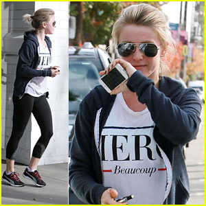 Julianne Hough: Workout After Thanksgiving in Nashville