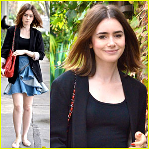 Lily Collins: Lunch Meeting Monday