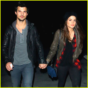 Taylor Lautner & Marie Avgeropoulos: Jay-Z Concert Couple