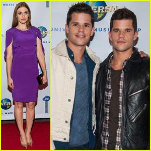 Holland Roden & Carver Twins: Universal Music Group Grammys After-Party 2014