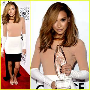Naya Rivera: Blonde Hair at People's Choice Awards 2014!