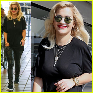 Rita Ora Flies Out of Los Angeles