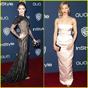 Sarah Bolger & Sarah Gadon: InStyle Golden Globe Party Pair
