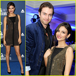 Victoria Justice & Pierson Fode: Lorde's Pre-Grammy Performance Pair
