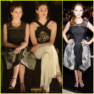 Anna Kendrick & Emmy Rossum: Carolina Herrera Fashion Show Pals