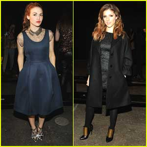 Holland Roden & Anna Kendrick: Philosophy By Natalie Ratabesi at NYFW