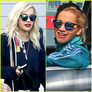 Rita Ora Takes Driving Lessons in Los Angeles