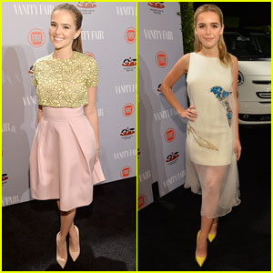 Zoey Deutch & Kiernan Shipka: 'Vanity Fair' Young Hollywood Party 2014