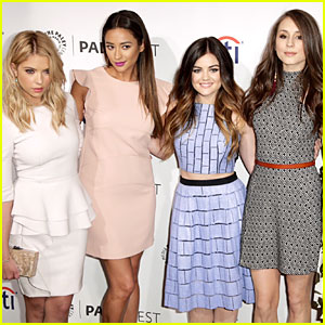 Ashley Benson Lucy Hale Are Pretty Little Liars At Paleyfest
