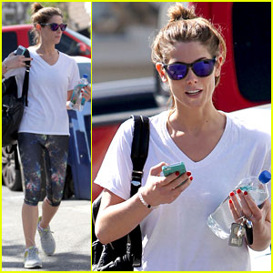 Ashley Greene is a Fan of Colorful Gym Gear