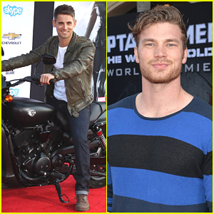 Jean-Luc Bilodeau Steals Captain America's Motorcycle at Premiere!