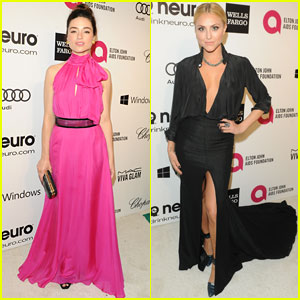 Crystal Reed & Cassie Scerbo: EJAF Oscars 2014 Party Ladies