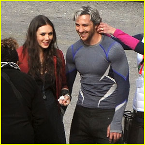 Elizabeth Olsen Gets Touched Up on 'Avengers' Set