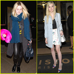 Elle Fanning Dines Out in Paris; Dakota Fanning Comes Back to Los Angeles