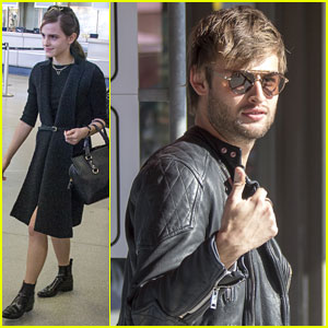 Emma Watson & Douglas Booth Arrive in Berlin Ahead of 'Noah' Premiere