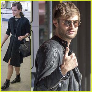 Emma Watson & Douglas Booth Arrive in Berlin Ahead of 'Noah' Premiere