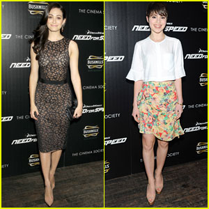 Emmy Rossum: 'Need for Speed' NYC Premiere with Sami Gayle