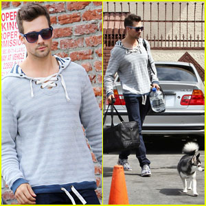James Maslow Working on 'Something Special' in the Studio with Victoria Justice