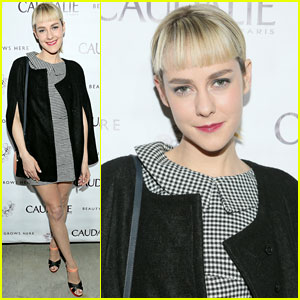 Jena Malone Shows Off New Bangs at Caudalie Boutique Spa Opening