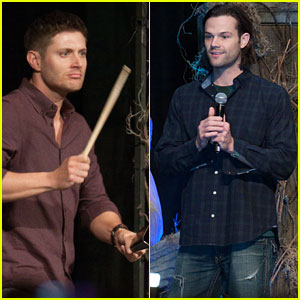 Jensen Ackles Entertains the Crowd at the 'Supernatural' Convention with Jared Padalecki!