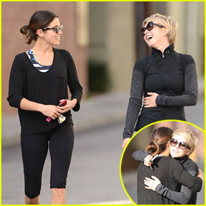 Nikki Reed & Julianne Hough Hug It Out After Workout