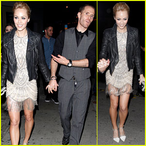Laura Vandervoort Leaves Engagement Party with Oliver Trevena