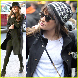 Lea Michele: Outfit Changes For More 'Glee' in NYC!
