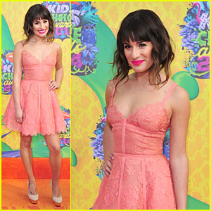 Lea Michele Is Lacy Pink at Kids' Choice Awards 2014