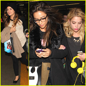 Lucy Hale, Ashley Benson & Shay Mitchell Are Back in LA After 'Liars' Promo in NYC