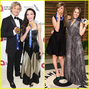 Meryl Davis and Charlie White Attend Oscar Parties; Opt Out of World Championships