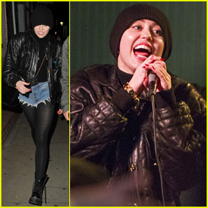 Miley Cyrus Sings 'Baby Got Back' Before Tour Bus Fire (Video)