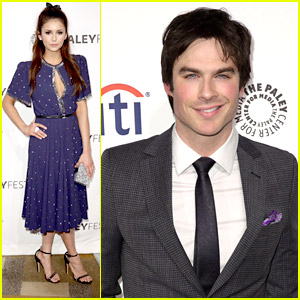 Nina Dobrev: 'Vampire Diaries' Goes to PaleyFest with Ian Somerhalder & Paul Wesley