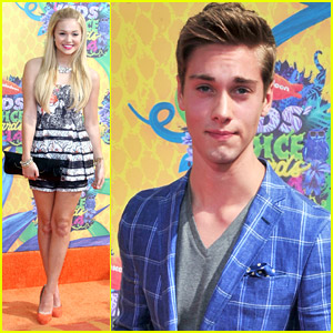 Olivia Holt & Austin North - Kids' Choice Awards 2014 Orange Carpet