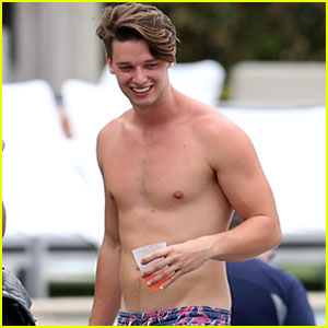 Patrick Schwarzenegger Shirtless in Miami!