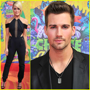 James Maslow & Peta Murgatroyd Strike a Pose at the Kids' Choice Awards 2014!