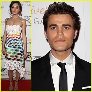 Paul Wesley & Phoebe Tonkin Have a Night Out to Support the Humane Society!