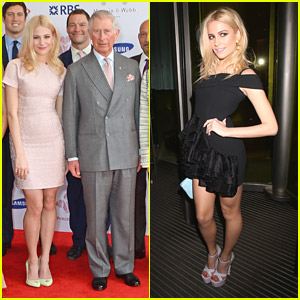 Pixie Lott Poses with Prince Charles at Success Awards