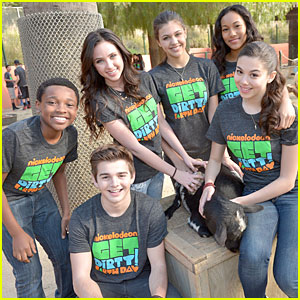 Ryan Newman & Jack Griffo Make a Difference at Nickelodeon Get Dirty Earth Day!