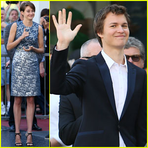 Shailene Woodley & Ansel Elgort Support 'Divergent' Co-Star Kate Winslet at Walk of Fame