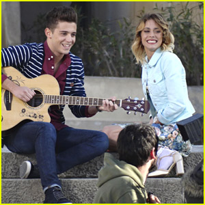 Martina Stoessel Films 'Violetta' Music Scene in Barcelona