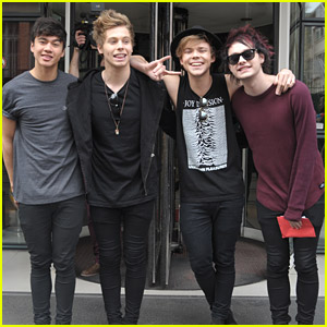5 Seconds Of Summer Hit Up NRJ Radio in Paris Before Showcase