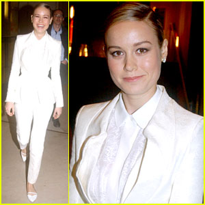 Brie Larson is a White Suit Stunner in Paris!