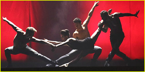 Derek Hough Goes Shirtless for Macy's Stars of Dance Performance with Kathryn McCormick - Watch Here!