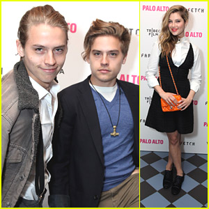 Dylan & Cole Sprouse Support Zoe Levin at 'Palo Alto' Tribeca Premiere