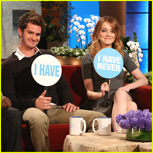 Emma Stone & Andrew Garfield Play Never Have I Ever with Ellen