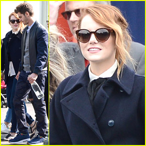 Emma Stone & Andrew Garfield Take 'Spider-Man' To Disneyland Paris