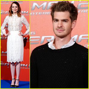 Andrew Garfield & Emma Stone Promote 'Spider-Man 2' in Rome After Movie Awards Skit