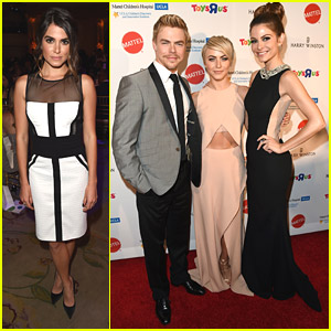 Julianne & Derek Hough: Group Hug at Kaleidoscope Ball 2014 with Maria Menuonos & Nikki Reed