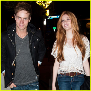 Katherine McNamara & Spencer Sutherland Grab Evening Tea Together!